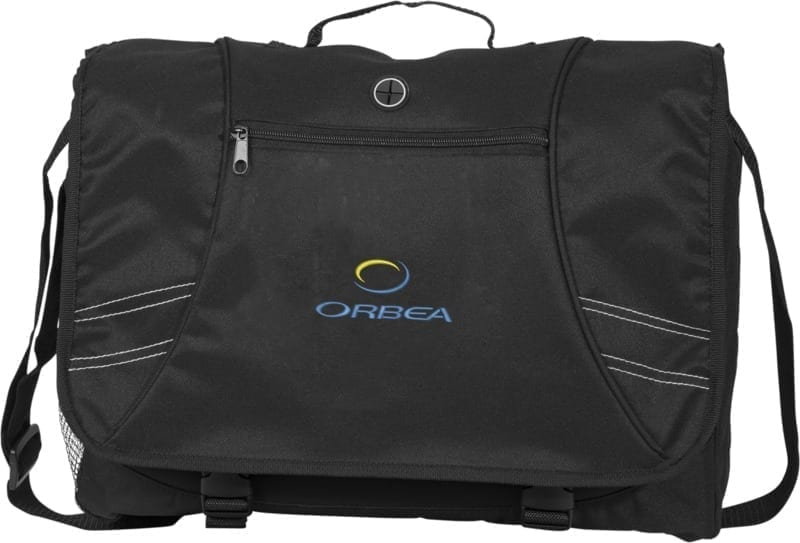 This 15.6 inch laptop messenger bag is portable for travel and easy to transfer print with your logo