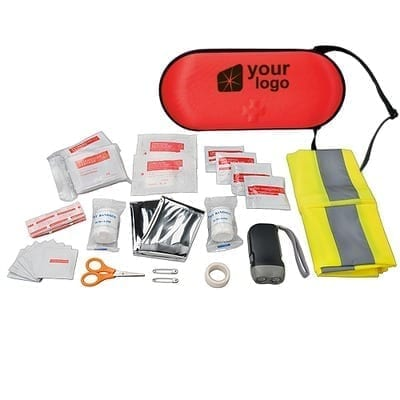 47 Piece Car First Aid Kits branded by Zest Promotional