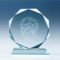 145cm x 15mm Jade Glass Facetted Octagon Awards