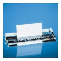 15cm Clear Glass Ruler & Business Card Holders