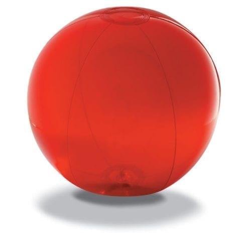 28cm-Transparent-Beach-Balls-Red
