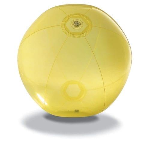 28cm-Transparent-Beach-Balls-Yellow