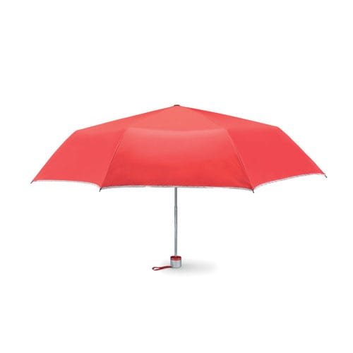 3 Folds Umbrella Red