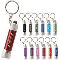3 LED Matte Torch Keyrings