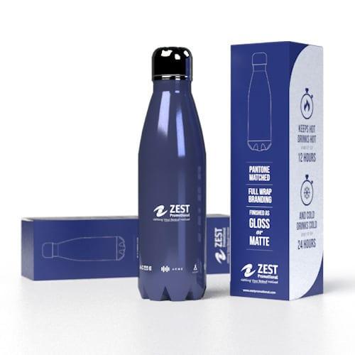 Bespoke Insulated Bottles - Branded Blue