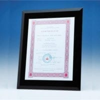Black Glass Frames for A4 Photo or Certificate