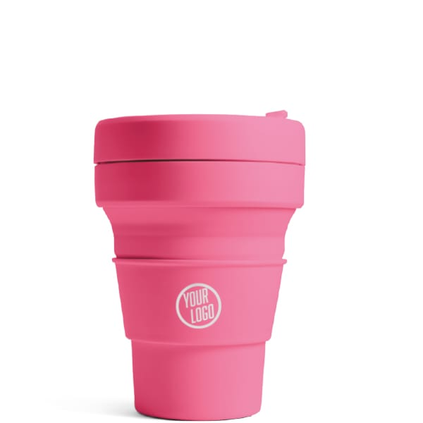 Branded Stojo Brooklyn Pocket Cup 12oz - Peony with Logo