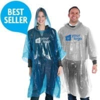 Disposable 002mm PE Rain Poncho