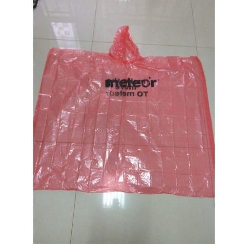Disposable-0-02mm-PE-Rain-Poncho-red
