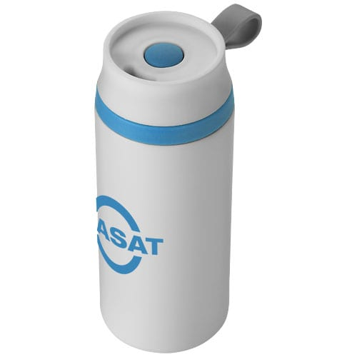 Flow 350ml Foam Insulated Tumblers white with logo