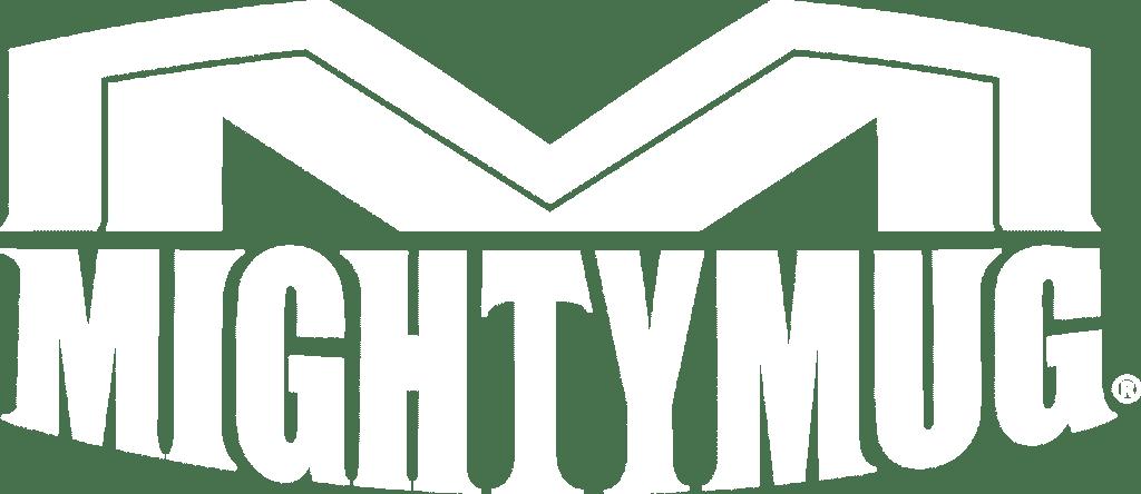 mighty mug white logo