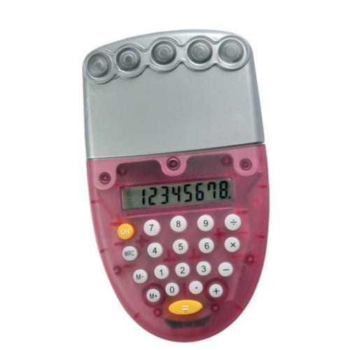 Ozone-Water-Powered-Promotional-Calculator-Red
