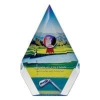 Pentagonal Shaped Acrylic Awards