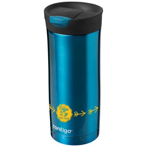 Promotional Contigo Huron 470ml Tumblers in Blue Branded