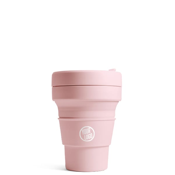 Promotional Stojo Brooklyn Mini 8oz - Carnation with Logo