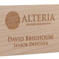 Real Wood Name Badges
