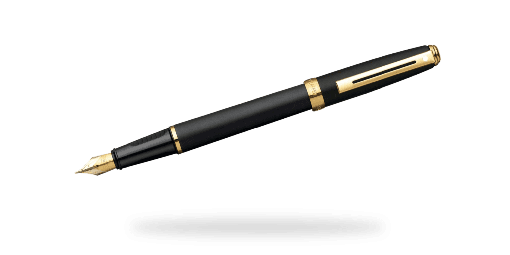 Sheaffer Prelude Fountain Pen in black with gold trim