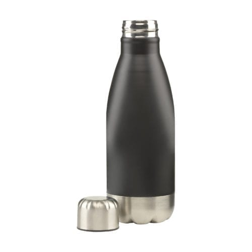 Small Black Topflask Bottle without lid on