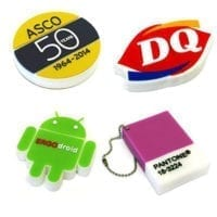 Small Soft PVC 2D USB Flash Drives