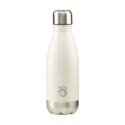 Small Topflask 350ml bottle with Printed Logo in White