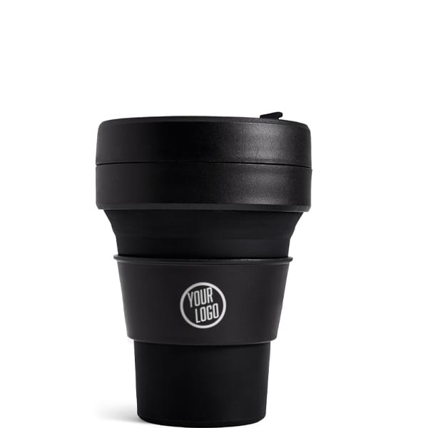 Stojo Brooklyn Pocket Cup 12oz - Ink with Logo