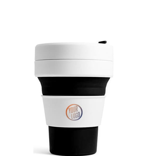Stojo Pocket Cup 12oz - Black with Logo