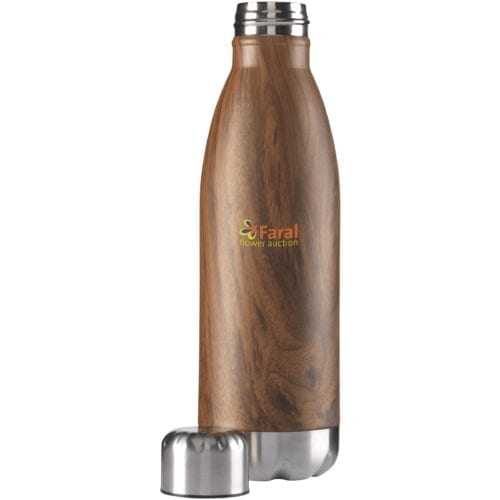 Wood Topflask Bottle with printed logo