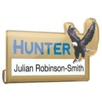 Acrylic Window Name Badges