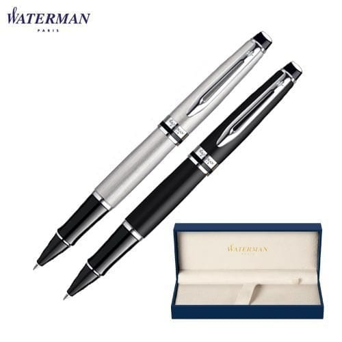 Waterman Expert Stainless Steel Rollerball Pens