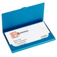 Alnwick Aluminium Business Card Cases