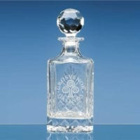 08ltr Lead Crystal Panel Square Spirit Decanters