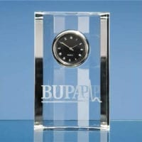 11cm Optical Crystal Scalloped Clocks