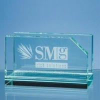 10cm Jade Glass Business Card Holders