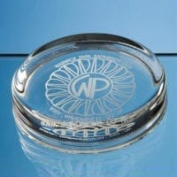 9cm Round Glass Paperweights
