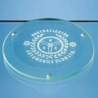 10cm Jade Glass Round Coasters