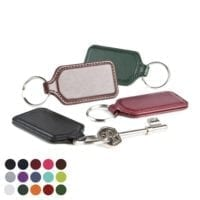 Belluno PU Rectangular Key Fobs