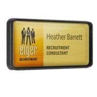 Plastic Framed Personalised Name Badges