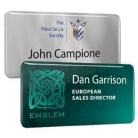 Aluminium Name Badges With Dome Finish