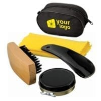 4 Piece Shoe Shine Kit in Case