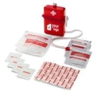 14 Piece First Aid Kit In Plastic Case