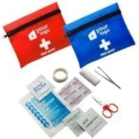 9 Piece First Aid Kit In Nylon Pouch