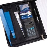 Balmoral Leather A4 Deluxe Zipped Conference Folder With Calculator