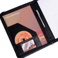 Ascot Leather A4 Zipped Conference Folders