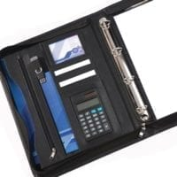 Houghton A4 Deluxe Zipped 25mm Ring Binder And Calculator