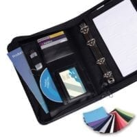 Belluno PU A5 Deluxe Zipped Ring Binders