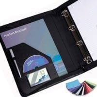 Belluno PU Zipped A4 Ring Binders
