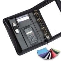 Belluno PU A5 Deluxe Zipped Calculator Ring Binders