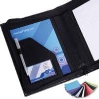 Belluno PU A5 Zipped Conference Folders