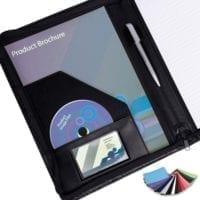 Belluno PU A4 Zipped Conference Folders