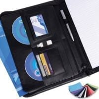 Belluno PU A4 Deluxe Zipped Conference Folders